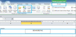 Excel File Name, File Path