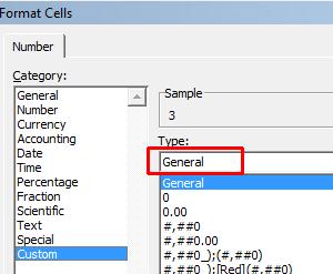 Custom Number Format Popup in Microsoft Excel