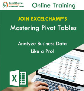 Master Pivot Tables in Excel - Online Training